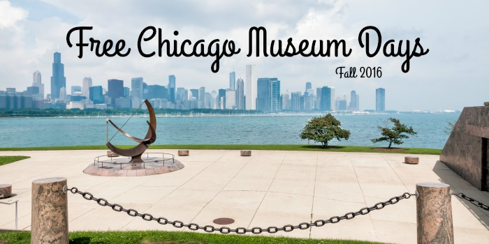 Free Chicago Museum Days - Fall 2016 #Chicago #free #museum