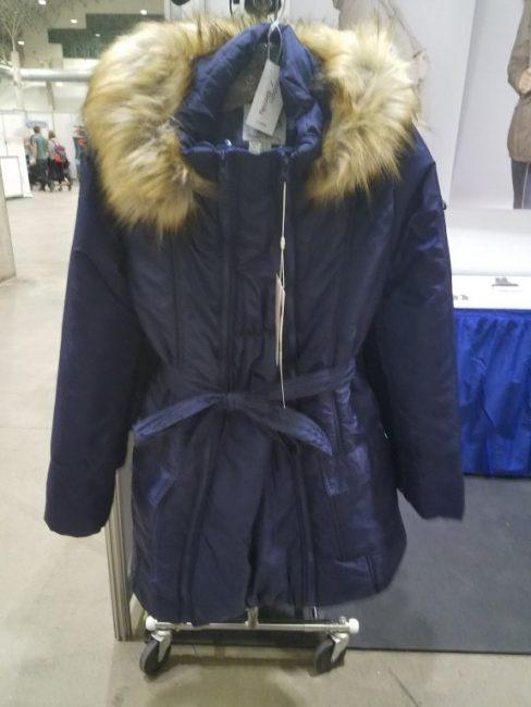 Maternity / Babywearing coat in blue