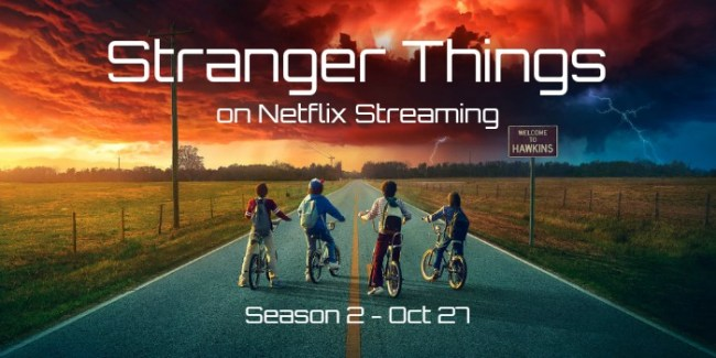 Stranger Things cast on bikes #giveaway #StreamTeam #ad