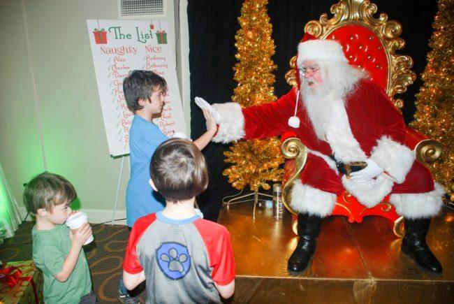 Santa at the Santa Suite in Swissotel Chicago