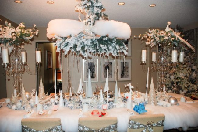 Santa's table at Santa Suite at Swissotel Chicago