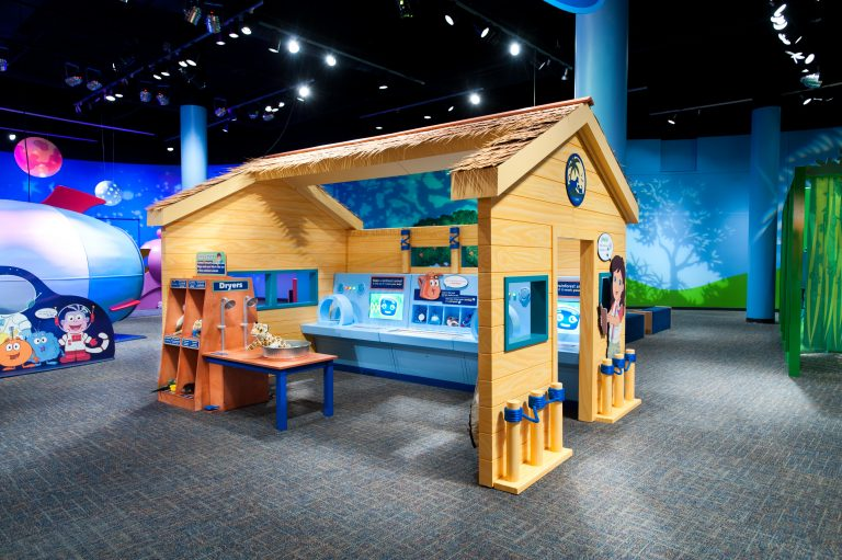 Play house at Peggy Notebaert Nature Museum - Dora and Diego