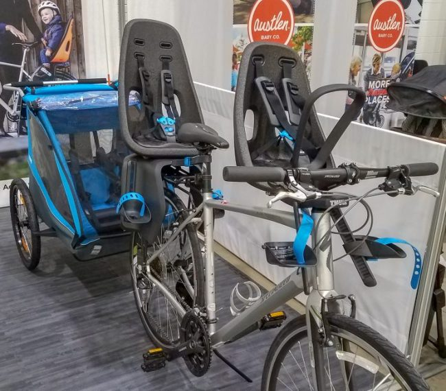 Thule bike with carriers at the Chicago Baby Show