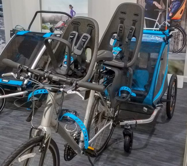 Thule bike carriers at the Chicago Baby Show