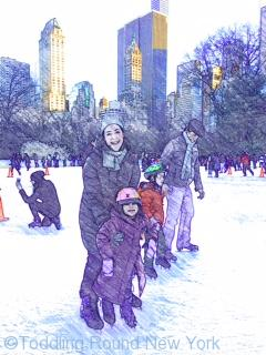 Wonderful day out at Central Park ice rink - New York ice skating