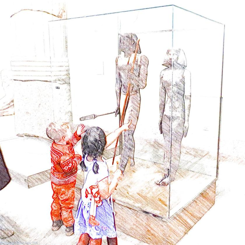Wooden statues found in tombs - New York - Egyptian Mummies
