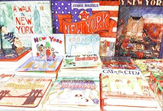 Shed loads of children's books about New York