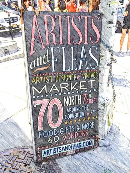 Artists and Fleas - one of Williamsburg's famous flea markets