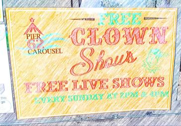 Pier 62 free clown shows