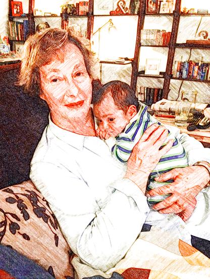 Meeting his grandparents
