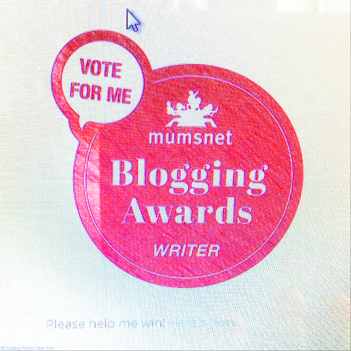 Blogging Awards button close up