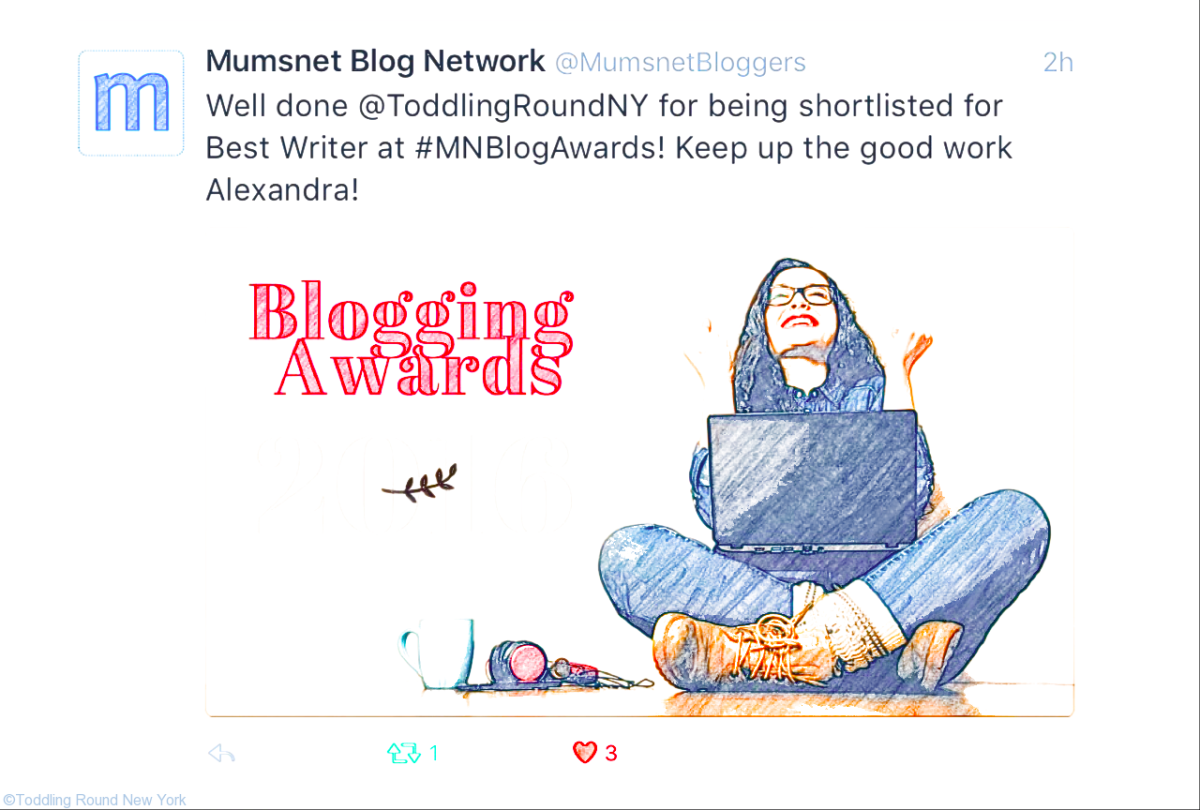 Hurray! Shortlisted for the Mumsnet Blog Awards!