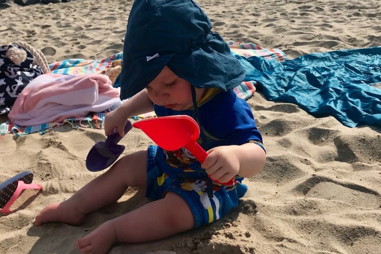 Beach Essentials for Babies Stinky Beach OCMD Toddling Traveler