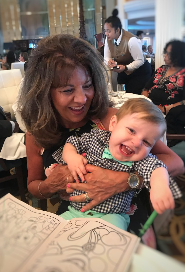 Eat in the Dining room Cruise with a Baby Toddling Traveler