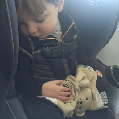 Flying with a toddler sleeping on a plane