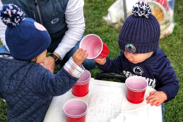 toddlers tailgating