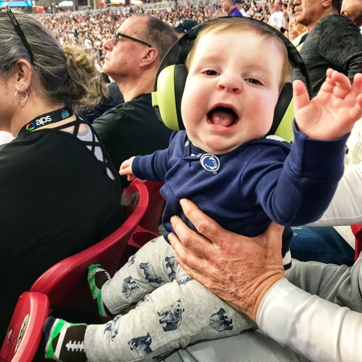 ear protection for baby at a football game