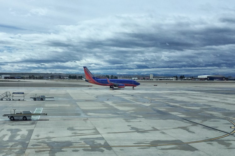 Southwest Plane Flying into Boise