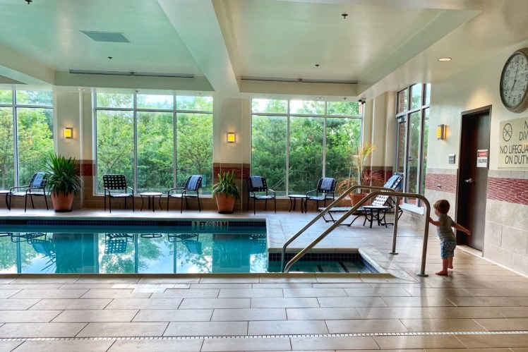Hilton Garden Inn Indiana at IUP hotel Swimming Pool Toddling Traveler