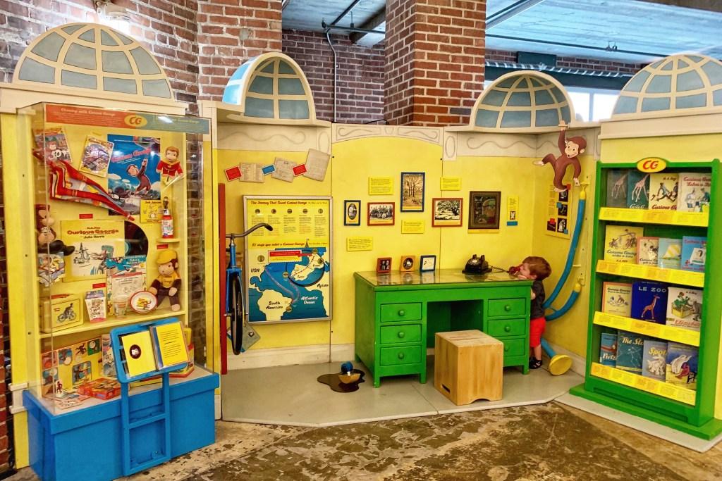 Curious George Exhibit Children's Museum of Pittsburgh Toddling Traveler