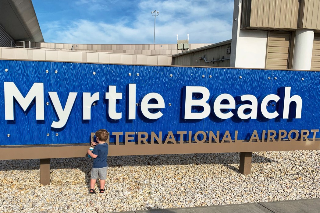 Myrtle Beach Airport North Myrtle Beach Family Vacation Toddling Traveler