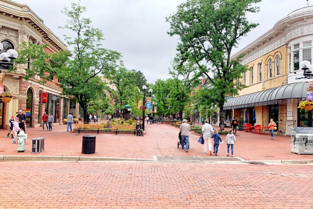 Pearl Street Mall Boulder Girls Weekend in Boulder Colorado Toddling Traveler