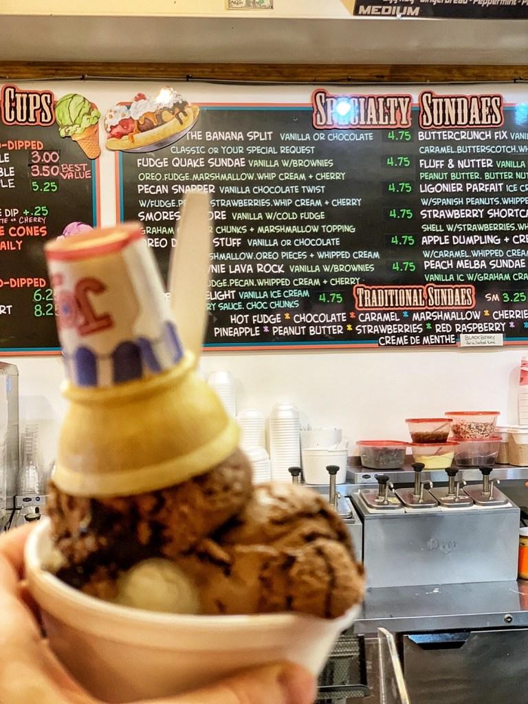 Ligonier Creamery Ice Cream in Ligonier with Kids