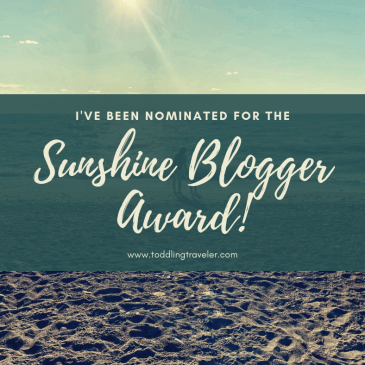2019 Sunshine Blogger Award Toddling Traveler