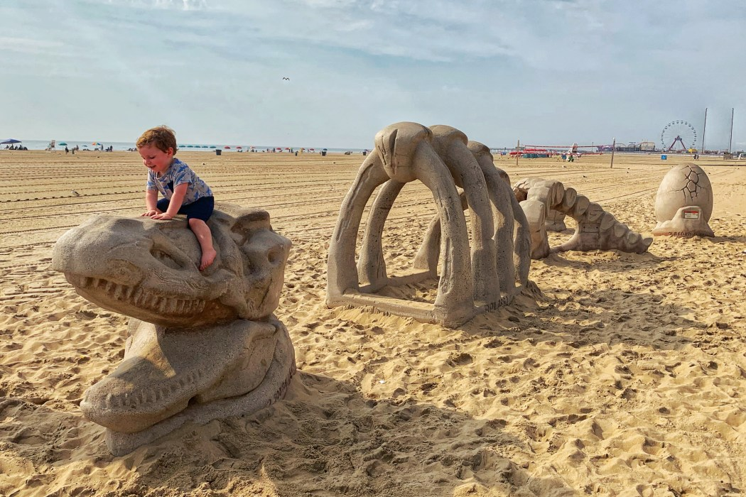 Dinosaur Play Structure Ocean City Boardwalk West Ocean City Toddling Traveler
