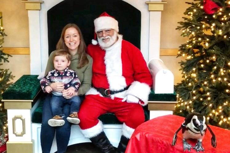 Santa in Pittsburgh Aviary Santa Toddling Traveler