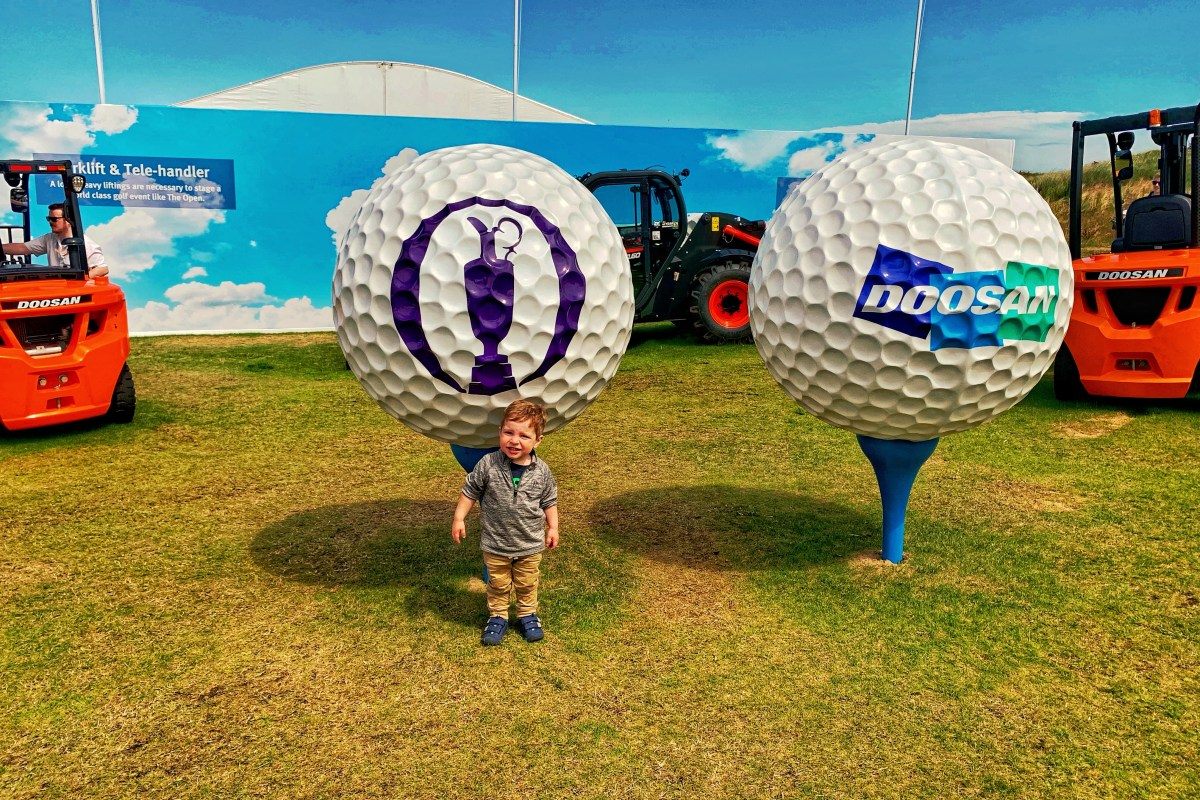 Royal Portrush The Open with a Toddler Toddling Traveler