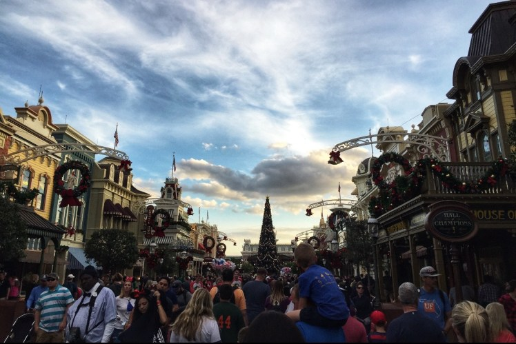 Magic Kingdom in Orlando at Christmas Toddling Traveler