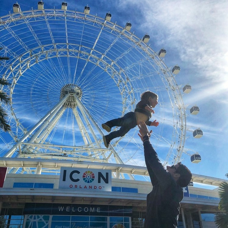 The Wheel at Icon Park Orlando at Christmas Toddling Traveler