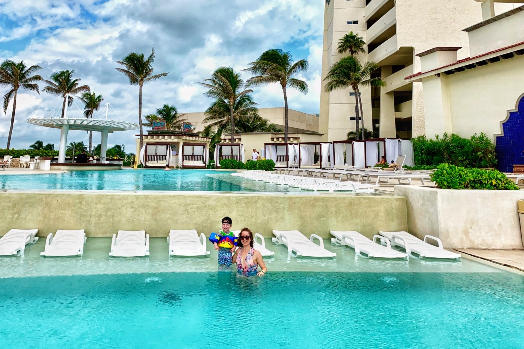 Infinity Pool at Grand Park Royal Luxury Resort Cancun Toddling Traveler