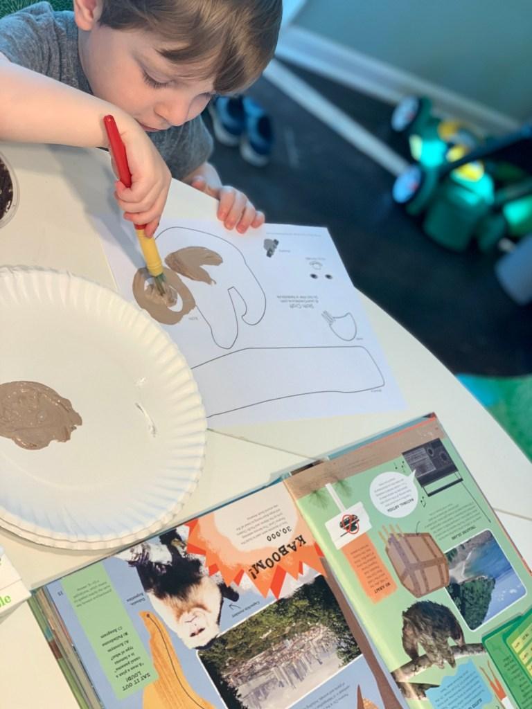 Costa Rica Sloths Craft for Kids Toddling Traveler