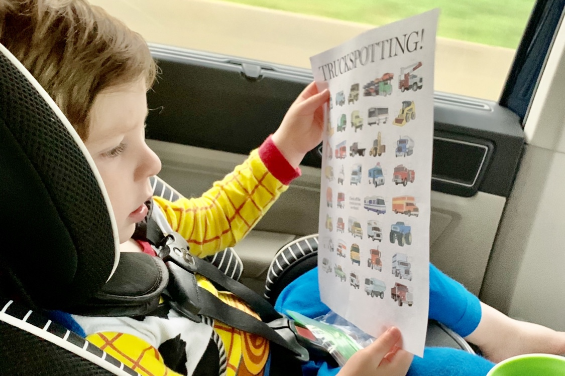 Road Trip with a Toddler Scavenger Hunt for the Car Toddling Traveler