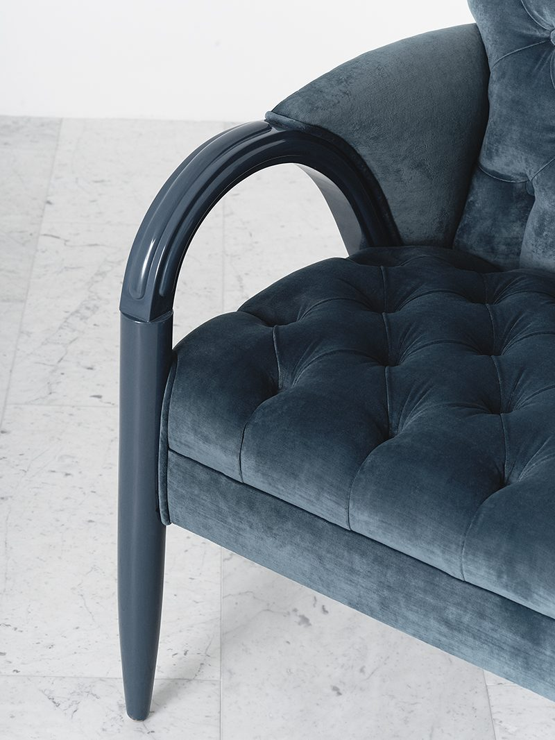 Blue Accent Chair Arms