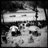 Race fans watch the Kohler Grand Prix at Canada Corner. (Photo by Todd Mizener/tmizener@gmail.com)