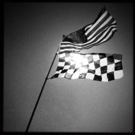 The flags were flying all weekend during the Kohler Grand Prix at Road America. (Photo by Todd Mizener/tmizener@gmail.com)