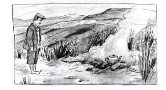 ©TW sketch, Irish farmer