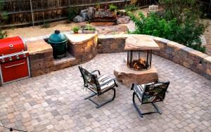 Todd's Excavating Hardscape patio design