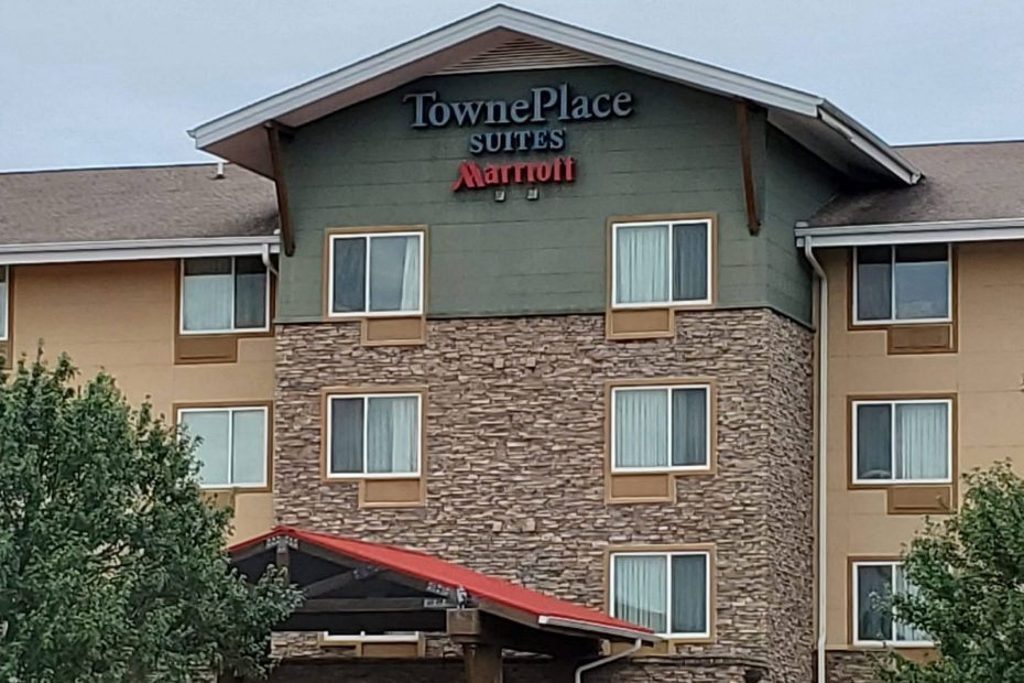 Hotel name sign