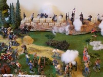 The Confederate Artillery is shelling the Union position.