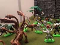 The Crusader Knights do their best to keep the Hydra at bay.