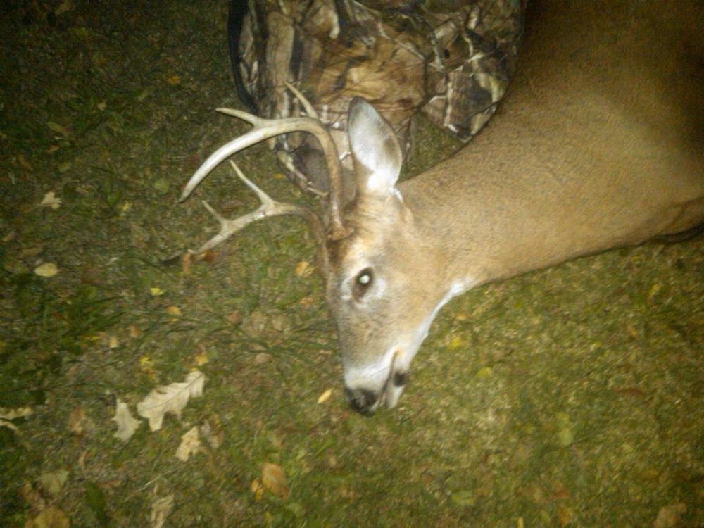Brother kills first deer