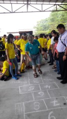 Hopscotch fun organised by the Singapore Kindness Movement. Photo by Chia Han Shen.