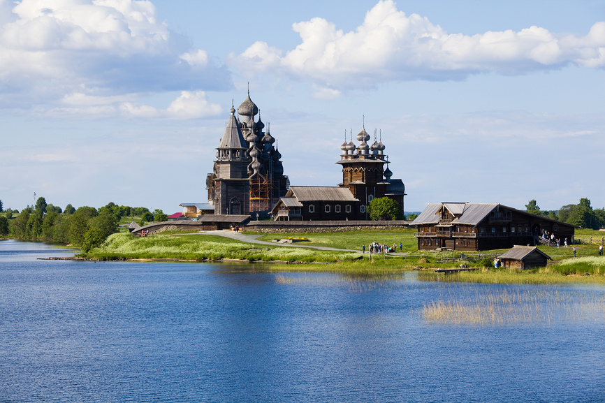Kizhi is a museum of wooden architecture