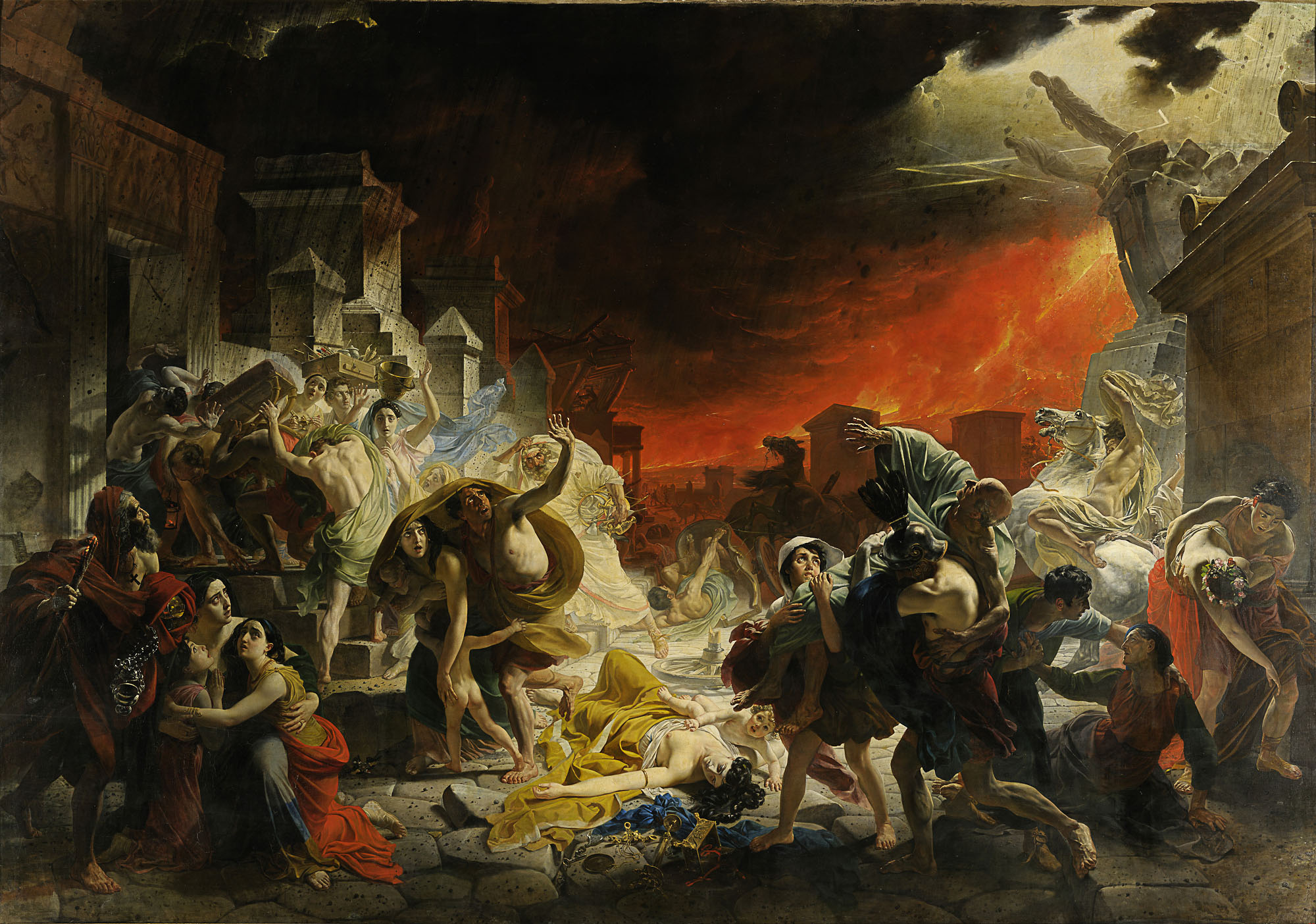 The Last Day of Pompeii by Karl Briullov