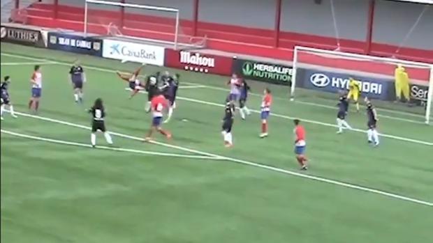 VIDEO: El monumental gol de chilena de Diego Espejo, juvenil del Atlético 1