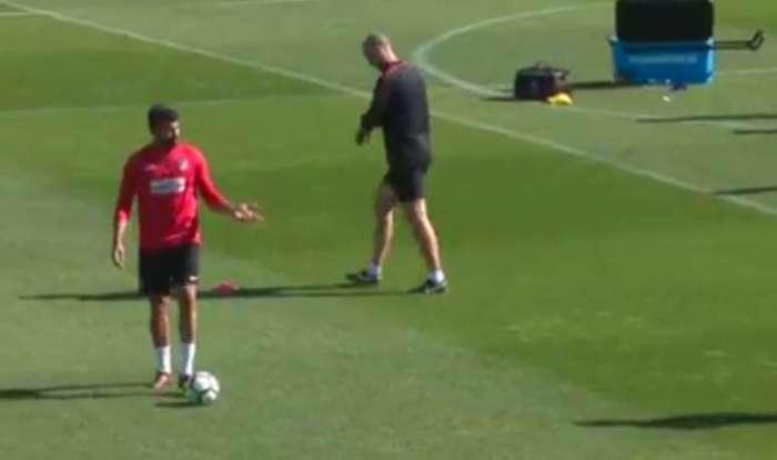 VIDEO: El primer enfado de Diego Costa en el Atlético por no entrenar con el grupo 1